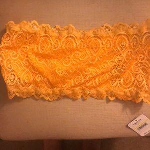 Bandeau free people yellow orange lace